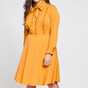 Eloquii - ruffle detail shirt dress. NWT